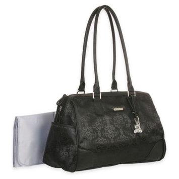 Little Me Jacquard Satchel Diaper Bag in Black