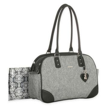 Little Me Lexington Duffle Diaper Bag in Grey Heather