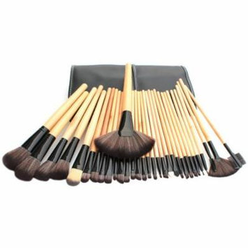 Bliss & Grace Professional Wood Make-Up Brush Set, 32 pc