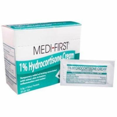 Medi-First Hydrocortisone Cream 1% with Aloe Relieves 1/32 oz 5 Boxes ( 125 packets ) MS-60725