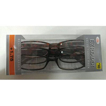 (6 pack) FGX E-Z Reader Reading Glasses Hadley tortoise +1.75 New