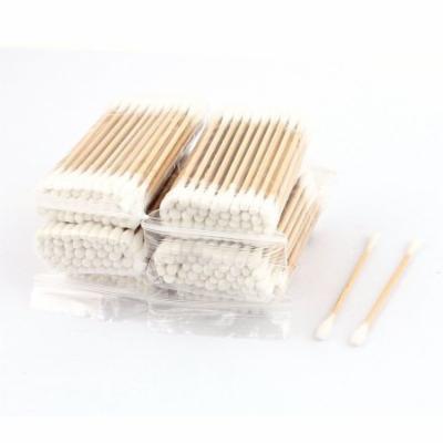 Wood Rod Cotton Swab Double End Ear Picks Cosmetics Earwax Removing Tool 1200pcs