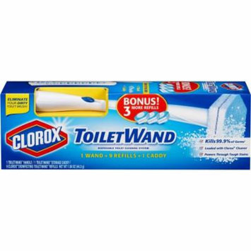 Clorox ToiletWand Disposable Toilet Cleaning Starter Kit, 11 pc