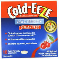 2 Pack - COLD-EEZE Lozenges Natural Wild Cherry Sugar Free 18 Each