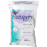 Swisspers Sterile Cotton Balls 100 Per Bag 3 Bags ( 300 ct. ) MS-50071
