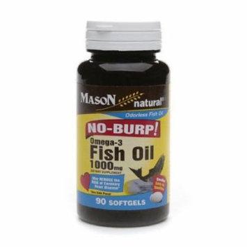 Fish Oil 1000 Mg No Burp Softgel, By Mason Vitamins - 90 Ea