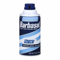 5 Pack - Barbasol Arctic Chill Thick & Rich Shaving Cream 10oz Each