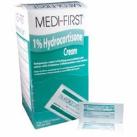 Medi-First Hydrocortisone Cream 1% with Itch Relief 1/32 oz 2 Boxes ( 288 packets ) MS-60730