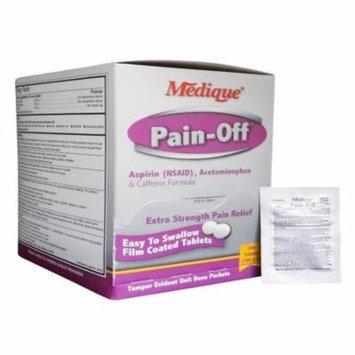 Medique Pain-Off Acetaminophen & Caffeine Formula 250mg 6 Boxes ( 1200 tablets ) MS-71170