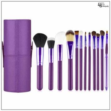 Professional Core Makeup Brush 12 Pcs Set Foundation Blending Blush Eyeliner Powder Brush Kit Purple,WMLS1847