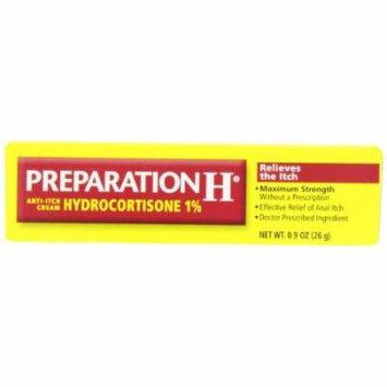 3 Pk Preparation H Anti-Itch Cream Hydrocortisone Maximum Strength 1% 0.9oz Ea