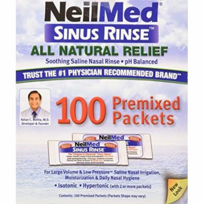 4 Pack - NeilMed Sinus Rinse Premixed Refill Packets 100 Each