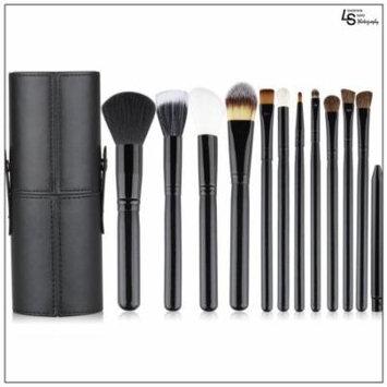 Professional Core Makeup Brush 12 Pcs Set Foundation Blending Blush Eyeliner Powder Brush Kit Black,WMLS1831