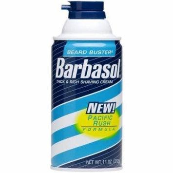 2 Pack - Barbasol Pacific Rush Shave Cream - 10oz Each