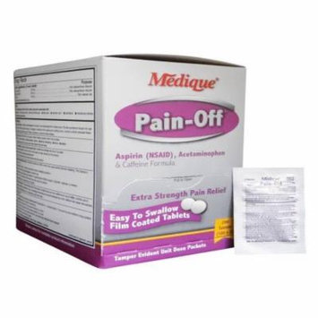 Medique Pain-Off Acetaminophen & Caffeine Formula 250mg 4 Boxes ( 800 tablets ) MS-71170