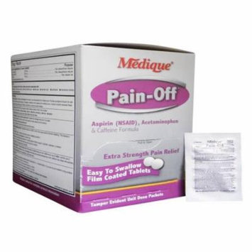 Medique Pain-Off Acetaminophen & Caffeine Formula, 250mg 4 Boxes ( 2000 tablets ) MS-71175