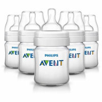Philips Avent Anti-Colic Clear 4-oz Baby Bottles, BPA-Free, 5pk
