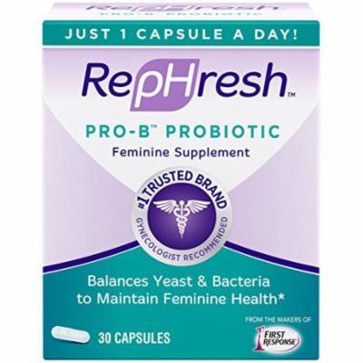 3 Pack - Rephresh Pro B Probiotic Feminine Supplement 30 Capsules - 1 Per Day