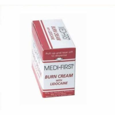 Medi-First Burn Cream with Lidocaine 0.9g packet 3 Boxes ( 75 packets ) MS-60765