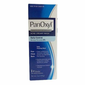 6 Pack - Panoxyl 4 Benzoyl Peroxide Acne Foaming Face Wash 4% 6oz Each