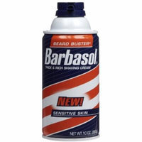 5 Pack - Barbasol Sensitive Skin Thick and Rich Shaving Cream, 10 Oz Each