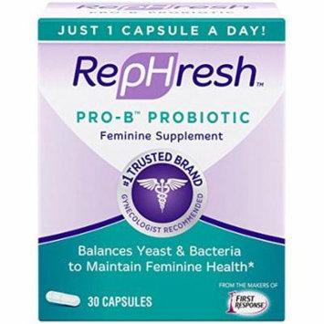 2 Pack - Rephresh Pro B Probiotic Feminine Supplement 30 Capsules - 1 Per Day