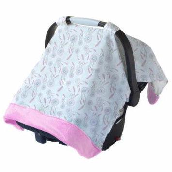 Cozy Happens Infant Car Seat Canopy Muslin - Dreamcatcher Muslin/Pink Minky