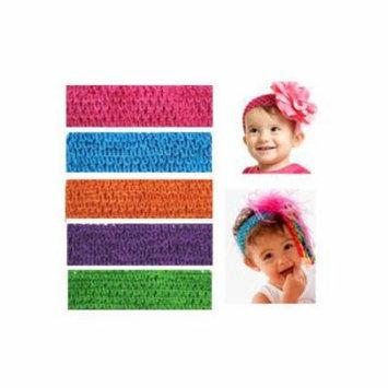 My Little Legs Crochet Headbands (Pack of 5) - Bright