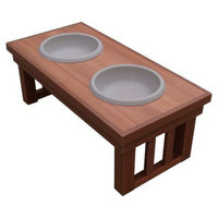 New Age Pet s Chestnut Indoor/Outdoor Raised Diner