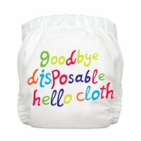 Charlie Banana Diaper In Bellywrap, Hello White, Small, 0.35 Pounds (Pack of 24)