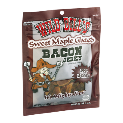 Wild Bill's Bacon Jerky Sweet Maple Glazed