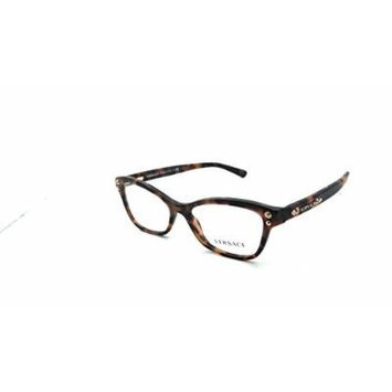 Versace Rx Eyeglasses Frames Mod 3208 5133 52x16 Matte Havana Made in Italy