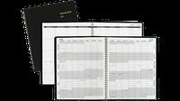 Monthly Planner, 9 x 11, Black, 2016-2017