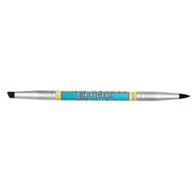 theBalm Eye Believe/ Women Empowderment-Double sided Eyebrow/Eyeliner Brush, 1 ea