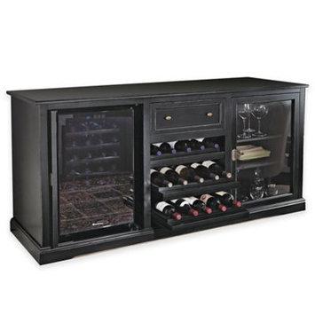 Wine Enthusiast Siena Wine Credenza - Nero with 28 Bottle Touchscreen Wine Refrigerator
