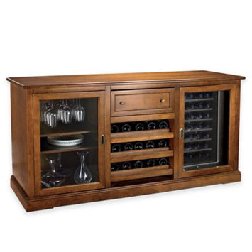 Wine Enthusiast Siena Wine Credenza with Two 28 Bottle Touchscreen Wine Refrigerators
