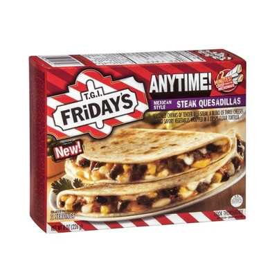 T.G.I. Friday's Anytime! Steak Quesadilla Mexican Style - 2 CT