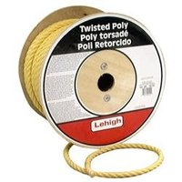 Lehigh Group 1/2 X 300' Yellow Polypropylene Twisted Rope