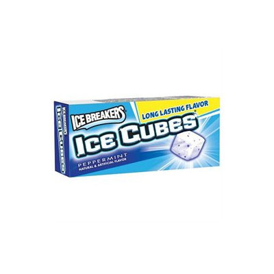Ice Breakers Ice Cubes Sugar Free Peppermint Gum, 16 pk