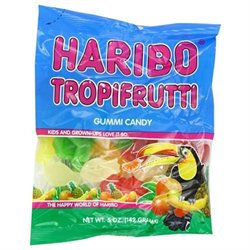 Ddi TropiFrutti Gummi Candy - Hanging Bag(Case of 12)