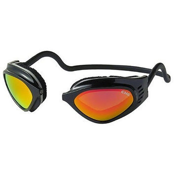 CliC Adjustable Front Connect Universal Sport Goggle, Standard Size, Black Frame with Iridium Lens