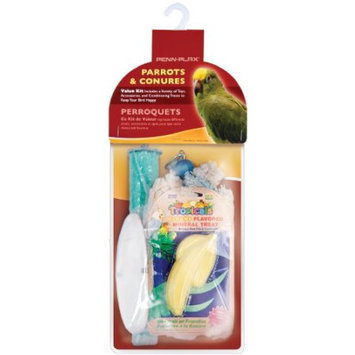Penn Plax BAK3 Bird Cage Accessory Pack for Large Birds Includes: Cuttlebone- Mineral Treat- Calcium Perch and Shaggy Kabob