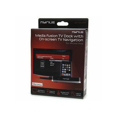 Nyrius Media Fusion TV Dock with On-Screen TV Navigation NIC709