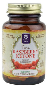 Genesis Today Inc Genesis Today, Pure Raspberry Ketone 60 Vegetarian Capsules