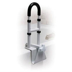 Drive Medical Adjustable Height Clamp-On Tub Rail - White