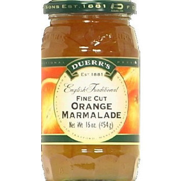 Duerr English Preserves Marmalade Orange 16.0000 OZ (Pack of 6)