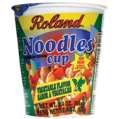 Roland Vegetable Flavor Noodles Cup, 2.4-Ounce Cups (Pack of 12)