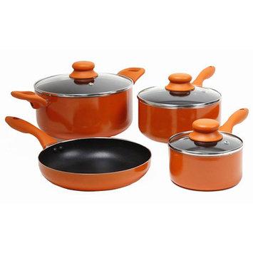 Gibson ColorSplash Branston 7-pc Aluminum Cookware Set, Orange