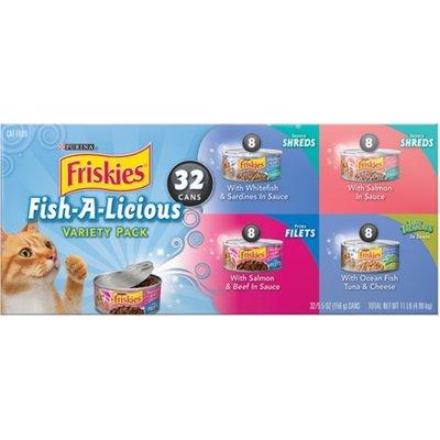 Friskies Seafood, 5.5 oz, 32 Count Variety Pack