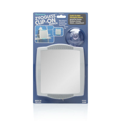 Zadro Fogless Clip-On Shower Mirror in White Z300
